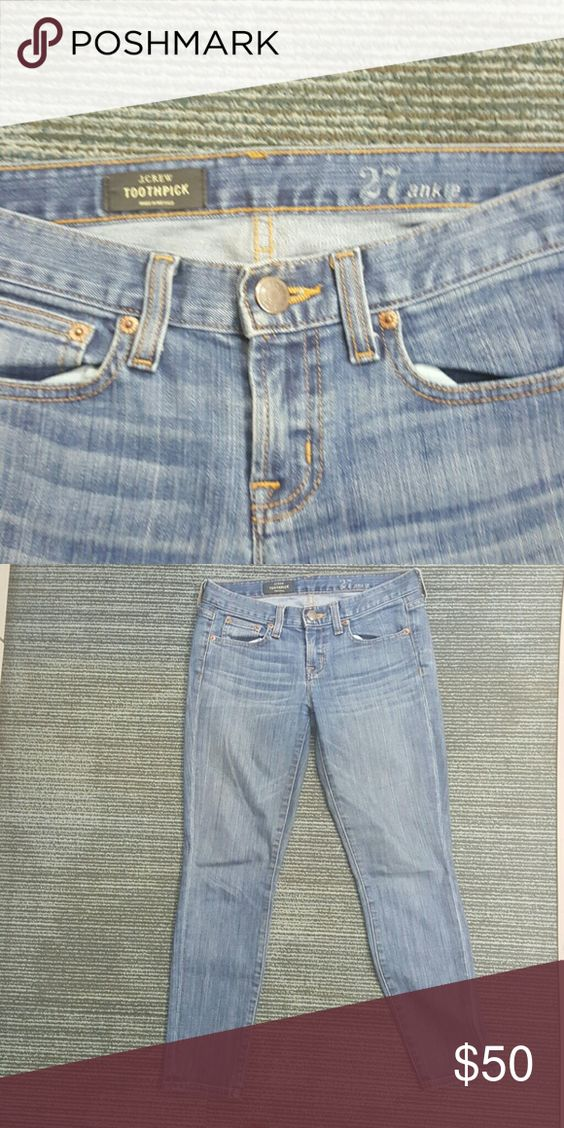 J Crew Toothpick Ankle Never worn J Crew toothpick ankle Ashford washed jeans fitted thru the hip and thigh size 27 inseam 28 J. Crew Jeans Ankle & Cropped