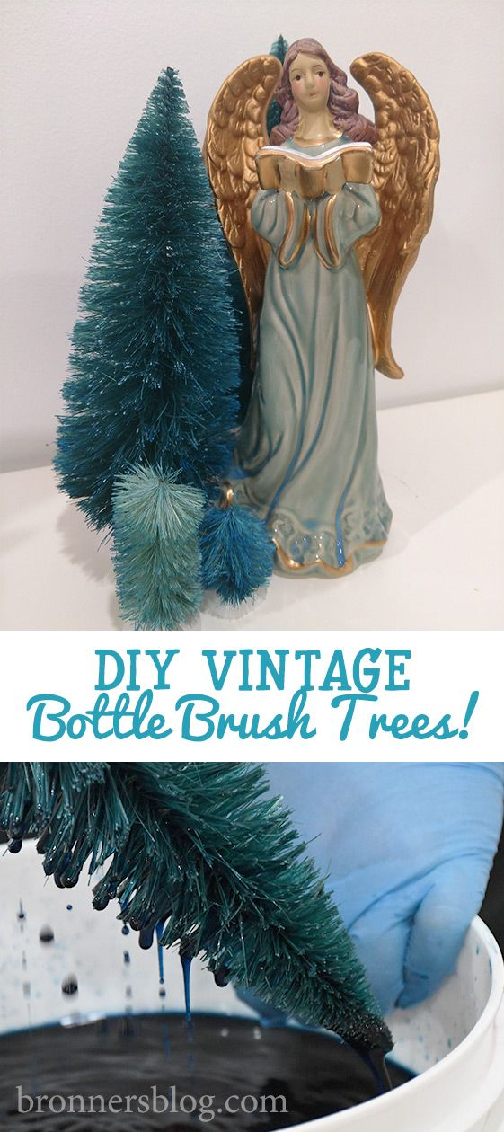 Diy Bottle Brush Trees For Vintage Christmas Decorations Bottle Brush Trees Bottle Brush Vintage Christmas Decorations