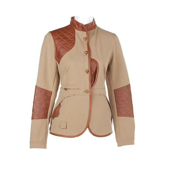 veste de chasse - esprit chasse pour femme hunting jacket - hunting style for women. Stretch tissue, goatleather, beautiful waistline. DIANE CHASSE