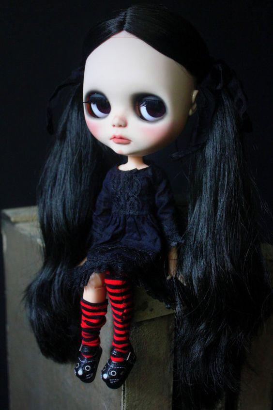 Hallow Kitty A OOAK Custom Art Doll
