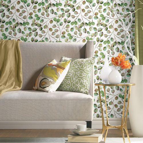 Catcoq Eucalyptus Peel And Stick Single Roll Wallpaper Lelands Wallpaper Peel And Stick Wallpaper Room Visualizer Dorm Furniture
