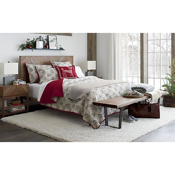 hayden right nightstand quilt winter bedding and white rug