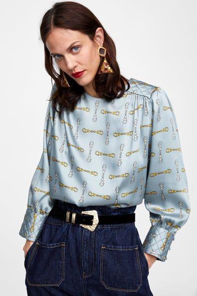 100% de garantía de satisfacción disfrute del envío de cortesía online aquí Imagen 2 de CUERPO ESTAMPADO CADENAS de Zara | blusas en ...