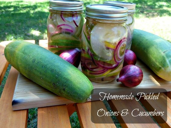 Pickled Onions and Cucumbers