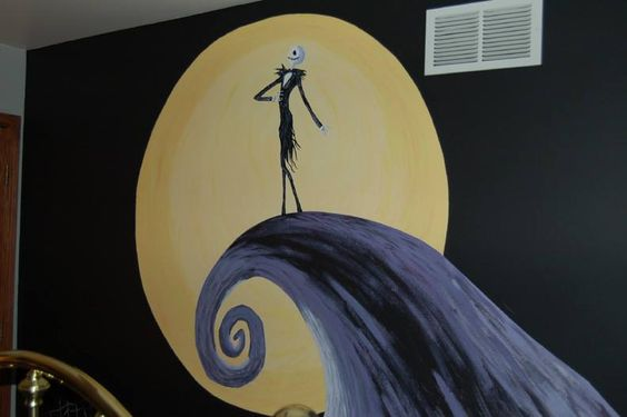 nightmare before christmas wall mural my own private. Black Bedroom Furniture Sets. Home Design Ideas