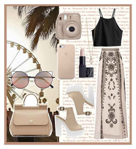 """#328"" by shirmeroz ❤ liked on Polyvore featuring Été Swim, Linda Farrow, Dolce&Gabbana, Temperley London, H&M, NARS Cosmetics and Zoya"