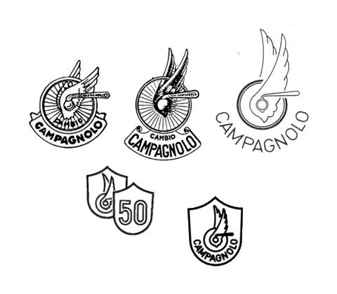 CAMPAGNOLO Winged wheel 1943 + 1953 + 1960 + 1983 (50 ...
