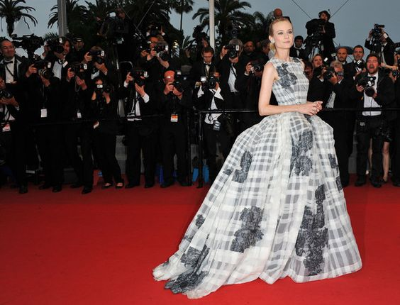 Diane Kruger (in Christian Dior Haute Couture) at 2012 Cannes Film Festival closing ceremony