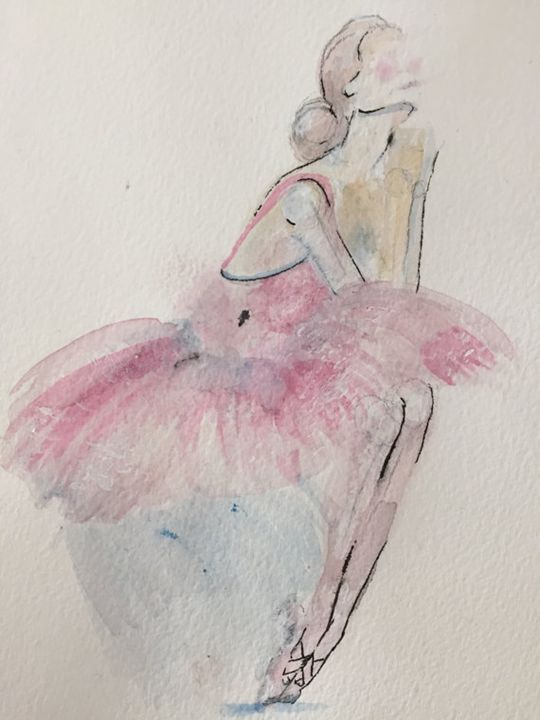 Original Watercolor Painting: Ballet - Courtney Corner