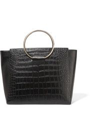 Little Liffner Ring croc-effect leather tote