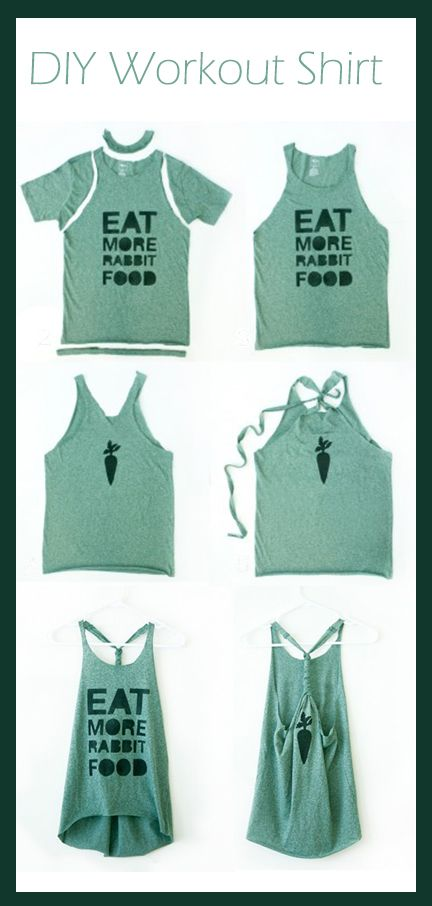 DIY Workout Shirt, mine was a little short in the front w/out cutting it. Next…