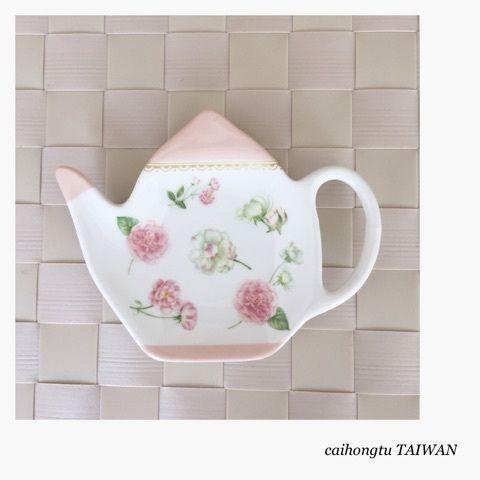porcelarts ポーセラーツ 瓷器彩繪 ティーバッグレスト オールドローズ