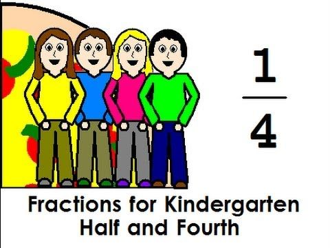 Fractions for Kindergarten Half and Fourth - YouTube ...