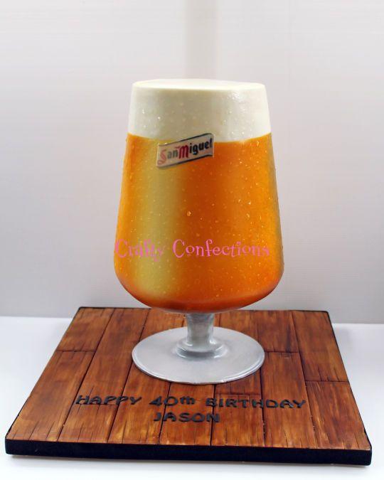 San Miguel beer glass cake