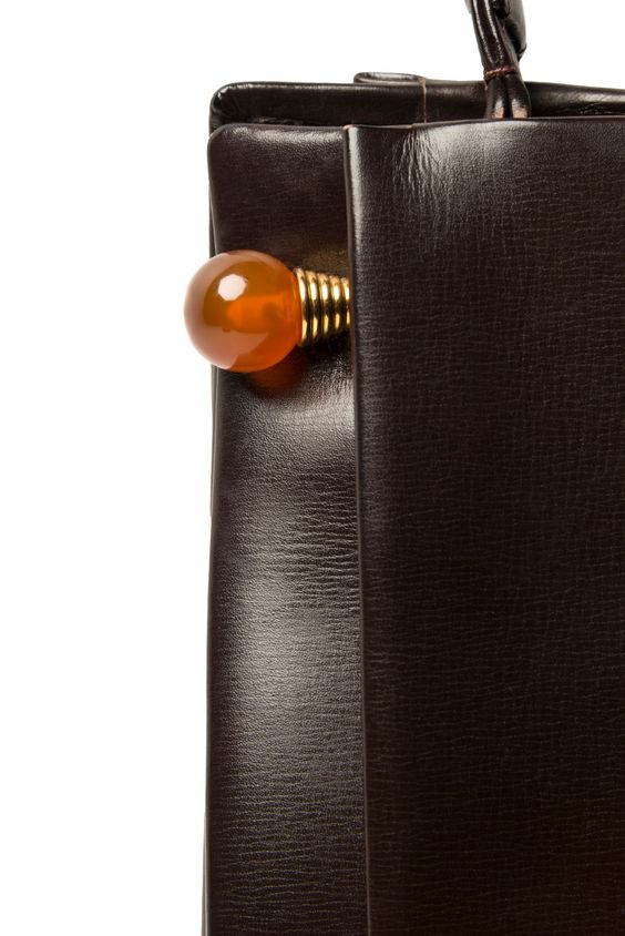 Smooth calfskin bag - creation by Jacques Hopenstand