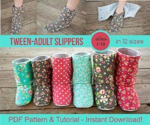 Adult House Slipper Bootie Pattern