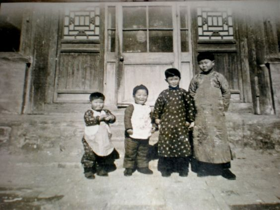 Old picture of a Chinese family we met in Beijing.