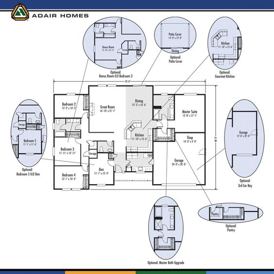 The Madison 2449 Home Plan Adair Homes Floor Plans