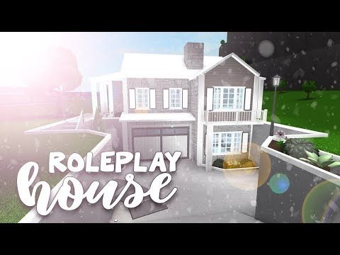 Roblox Bloxburg Roleplay House Speedbuild Youtube In 2020 House Plans With Pictures Luxury House Plans Modern Family House
