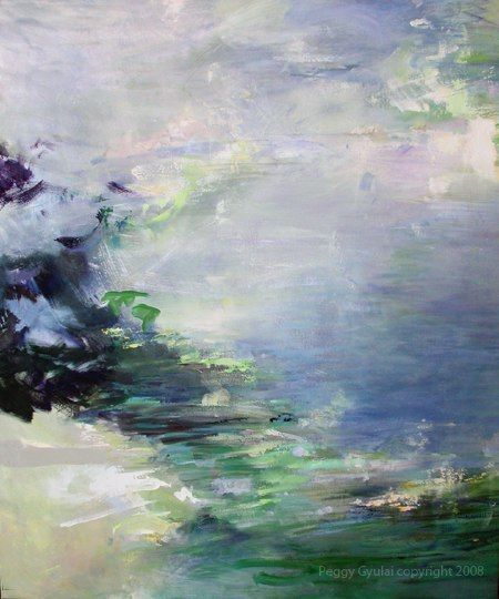 """Artist, Peggy Gyulai - """"Reflections in the Water,"""" Inspired by the music of Claude Debussy"""
