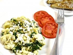 Low Calorie Egg White Scramble With Spinach and Onions | This ...