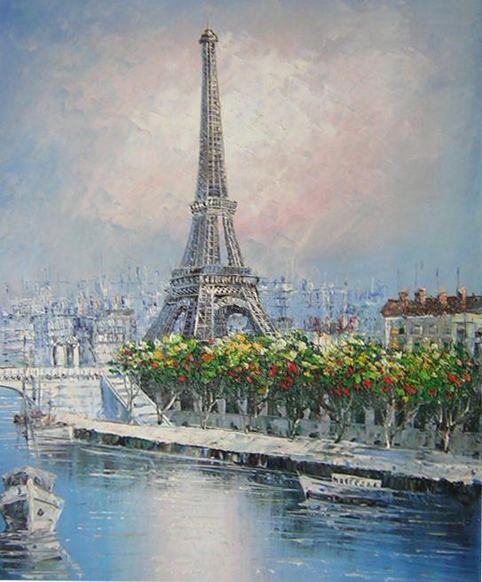 Tour eiffel peintre peinture sur toile de paris tour for Peintre sur bois