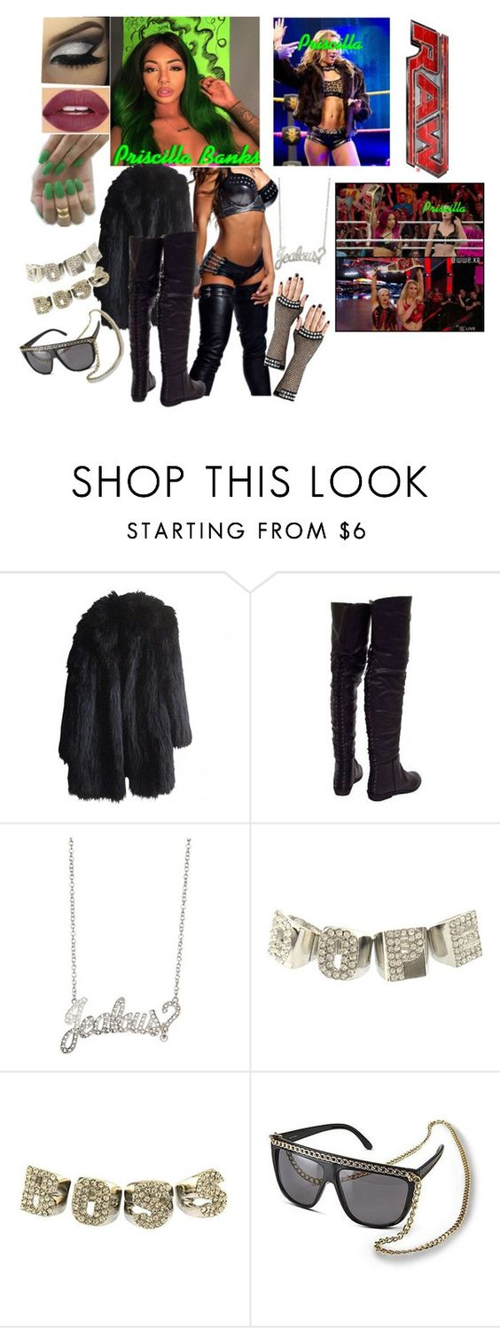 """""""Priscilla Sasha Comes to the Aid of Her Twin Sister ❌Extremely Late, I know"""" by black-onyxx ❤ liked on Polyvore featuring Sonia Rykiel, Rock Rebel, Nicki Minaj, Carmella and TNA"""