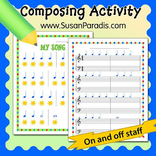 Any Day Composing Sheets - music staff paper template