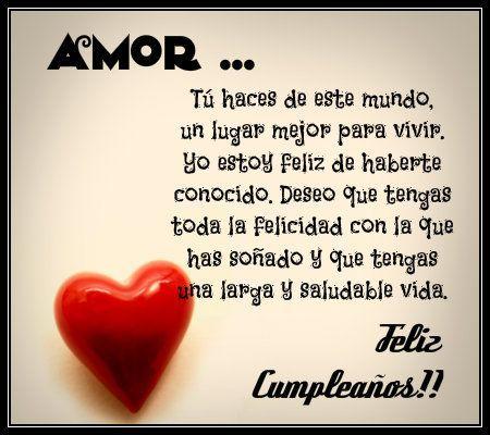 Feliz Cumpleanos Mi Amor Imagenes Y Frases Imagenes Para Whatsapp Happy Birthday Quotes Amor Quotes Love Phrases