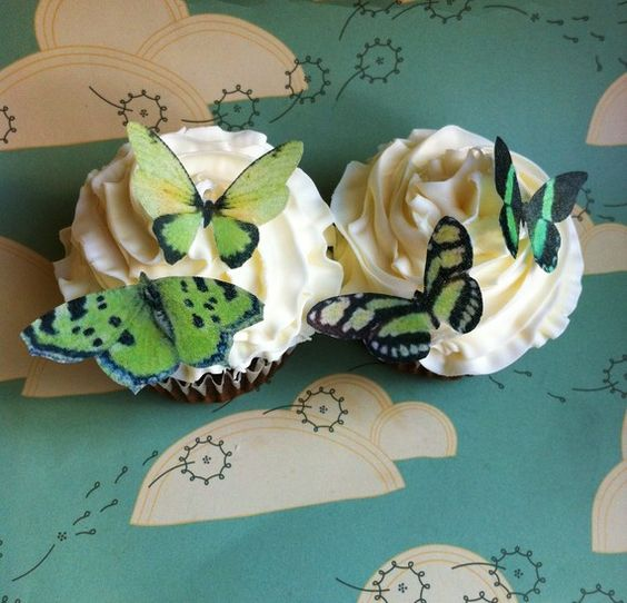 edible butterfly cupcakes