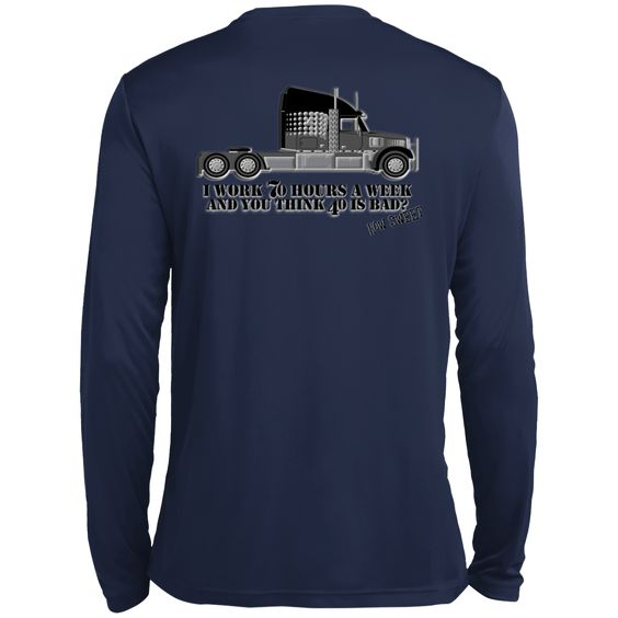 MBIT Trucker How Sweet Tall Long Sleeve Moisture Absorbing Shirt