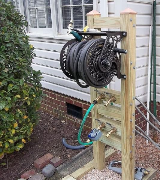Hose Reel Solution For Yard And Garden Outdoor Faucet