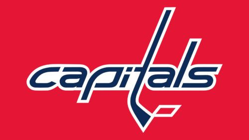 All The Three Colors Of The Official Palette Dark Blue Red And White Can Be Seen On The Washing Washington Capitals Logo Washington Capitals Hockey Logos