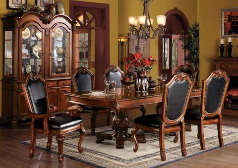 Acme Chateau De Ville Espresson Wood Finish Double Pedestal Dining Table Dining Room Table Set Luxury Dining Room Small Dining Room Table