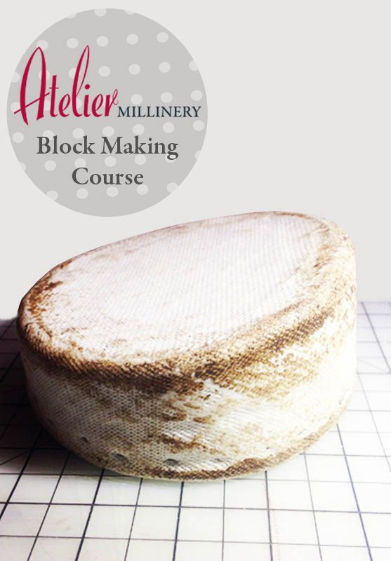 Learn all the skill to make your own buckram Hat Blocks with Tina  http://www.ateliermillinery.com/shop/clutch-bag-making/