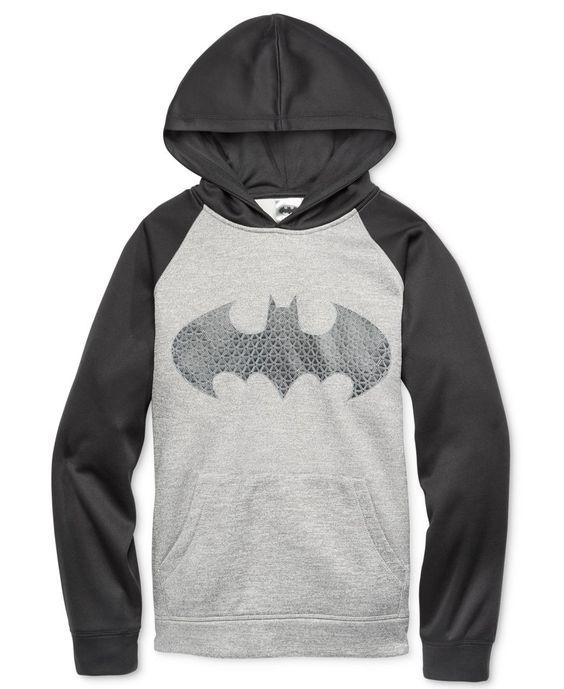 Dc Comics Boys' Batman Graphic-Print Hoodie