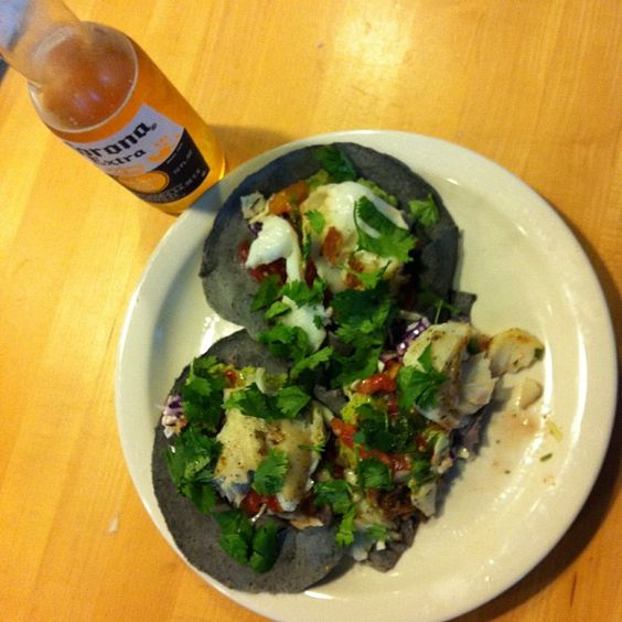 Yummy Fish Tacos on Blue corn tortillas #SundaySupper @judiknight