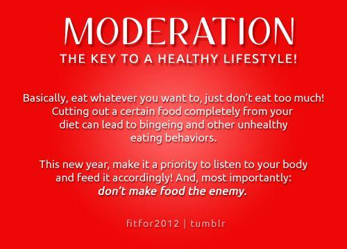 moderation is key
