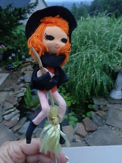Vintage Pixie HALLOWEEN Witch KNEE HUGGER.