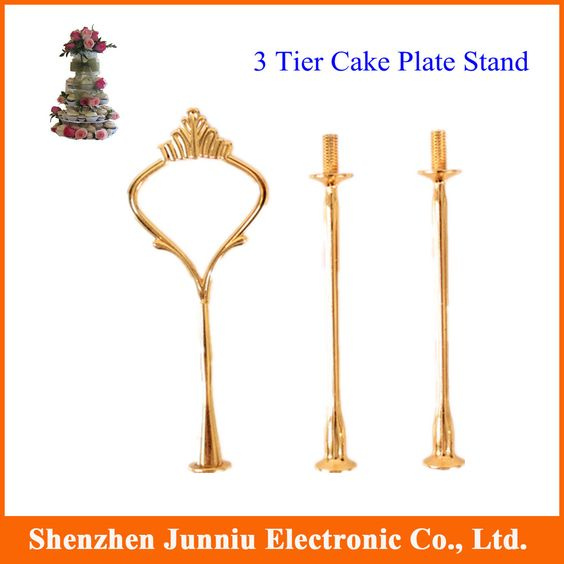 10 x Cake Stand Handle Hardware 3 Tier Gold Fitting Lot of 10 (only stand) Free Shipping $17.35
