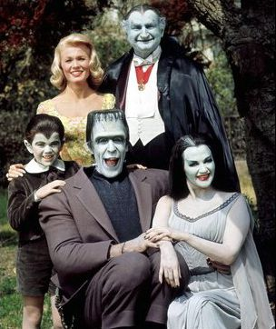 Watching The Munsters on Nick at Nite, when they played the good shows
