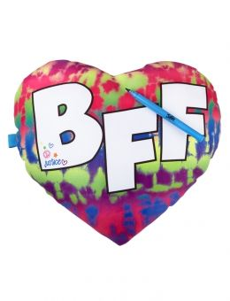 BFF Heart Pillow with Marker