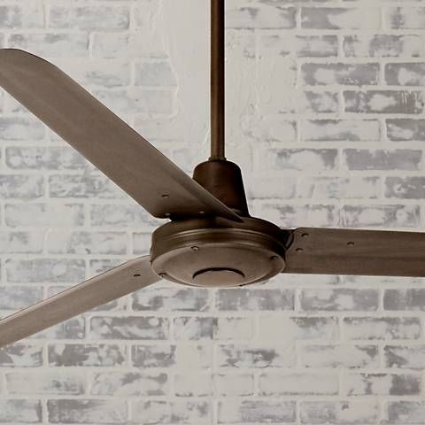 60 Casa Vieja Turbina Oil Rubbed Bronze Ceiling Fan U4514 Lamps Plus With Images Ceiling Fans Without Lights Ceiling Fan Industrial Ceiling Fan
