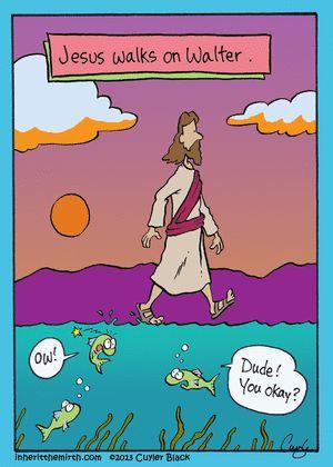 Jesus camina sobre las aguas...