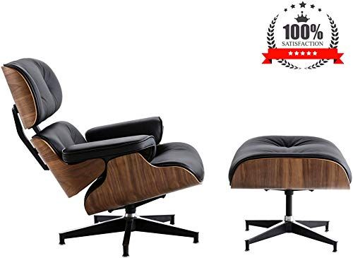 Amazing Offer On Mid Century Lounge Chair Ottoman Norcia Natural