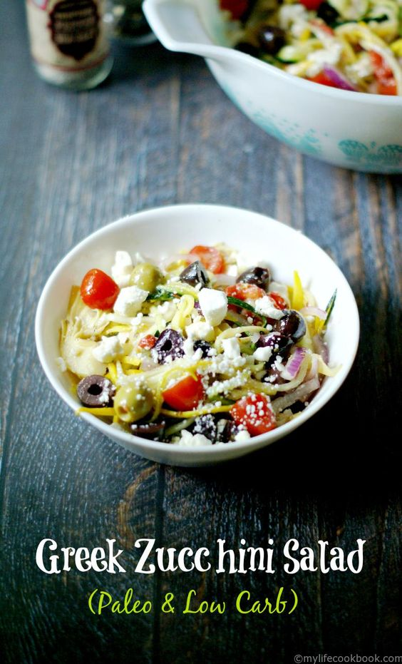 zucchini salads paleo low carb pasta salad pasta zucchini salad you ...