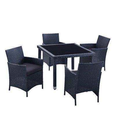 Modern Outdoor All Weather Wicker Rattan Table Patio Dining Set