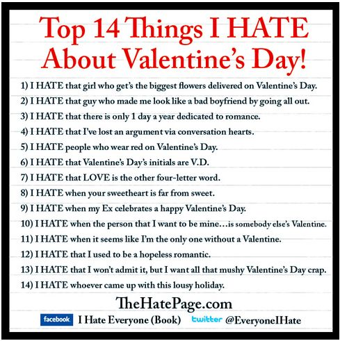 I Donu0027t Hate Valentineu0027s Day, Just Find It Unnecessary. And The List Makes  Me Smile Anyway :) | Things Make You Smile In Life | Pinterest