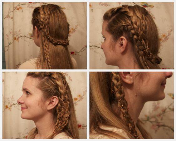 Vikings Lagertha Inspired Braids.