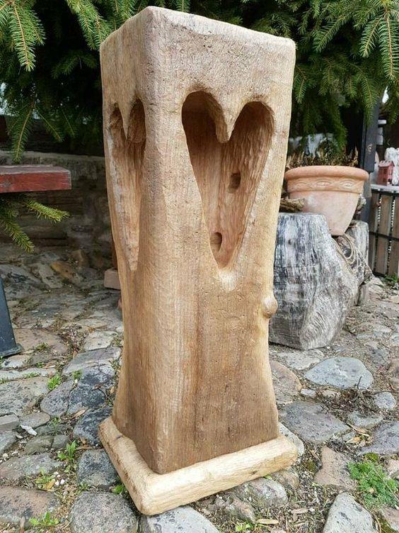 Fachwerk Balken Windlicht Stele Holzbalken Eichenbalken Led Lampe In Sachsen Anhalt Wasserleben Baum Schnitzen Rohrleuchte Holz
